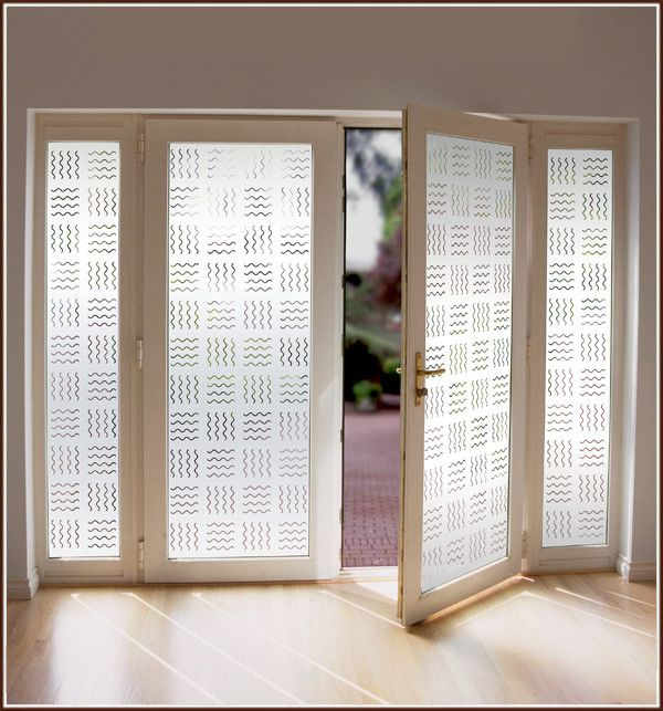 Pacifica Decorative One Way Etched Glass Window Film