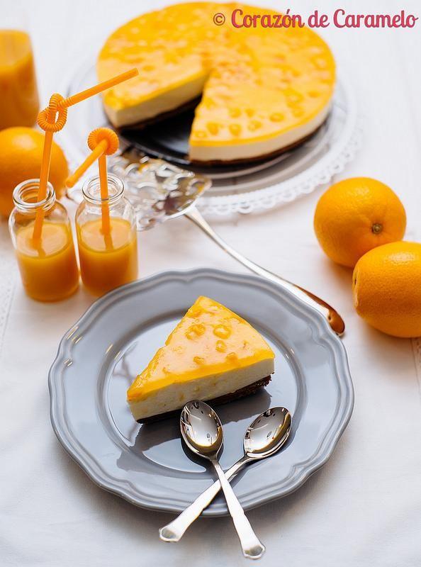 tarta fresca de naranja