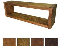 **Rustikales Massivholz Wandregal - Holz Regal** - 3,5 cm Materialstärke, 25 cm Hoch, 19,0 cm Tief - erhältlich in Verschiedenen Längen von 60 cm bis 160 cm und in den Ausführungen...