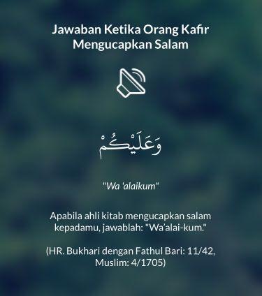 Jawaban Ketika Orang Kafir Mengucapkan Salam shared from #DoaHarianApp for iOS