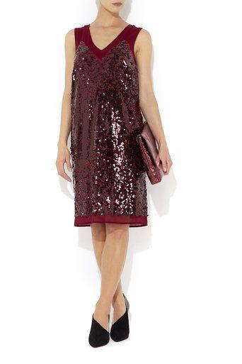 New style 1920s flapper dress UK: Berry Sequin Detail Dress, Berry £20.00