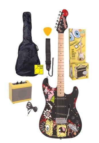 SpongeBob SquarePants: Electric Guitar Pack - Black. £199.00