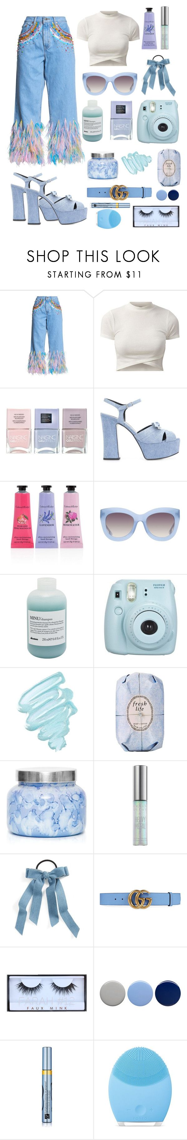 """""""Untitled #163"""" by southernunicorn ❤ liked on Polyvore featuring Romance Was Born, Nails Inc., Yves Saint Laurent, Crabtree & Evelyn, Alice + Olivia, Davines, Fujifilm, Obsessive Compulsive Cosmetics, Fresh and Capri Blue"""