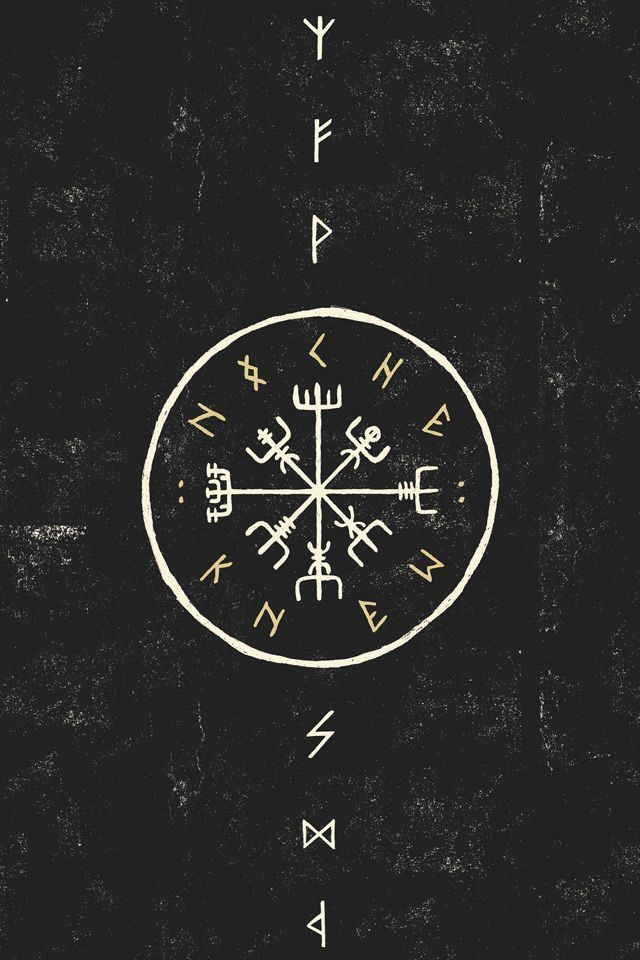 "kahankiller: ""Vegvísir, also known as the Norse Compass. It's magick keeps you from getting lost, and protects you on your travels. """
