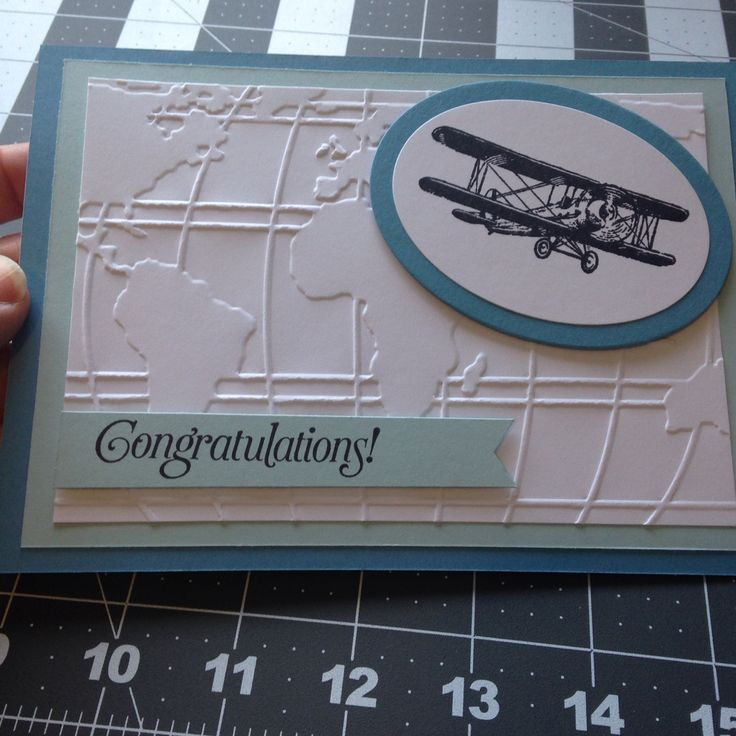#SkyIsTheLimit stamp set with the World Traveler embossing folder - Stampin' Up