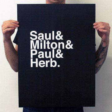 Saul Bass & Milton Glaser & Paul Rand & Herbert Lubalin