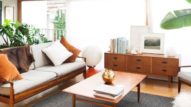 Kelly Thompson says her vintage couch and lounge chairs were the purchase she has ever made.