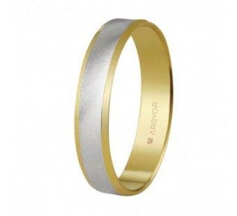 Alianza de boda oro blanco y amarillo de 18 kilates 5240308