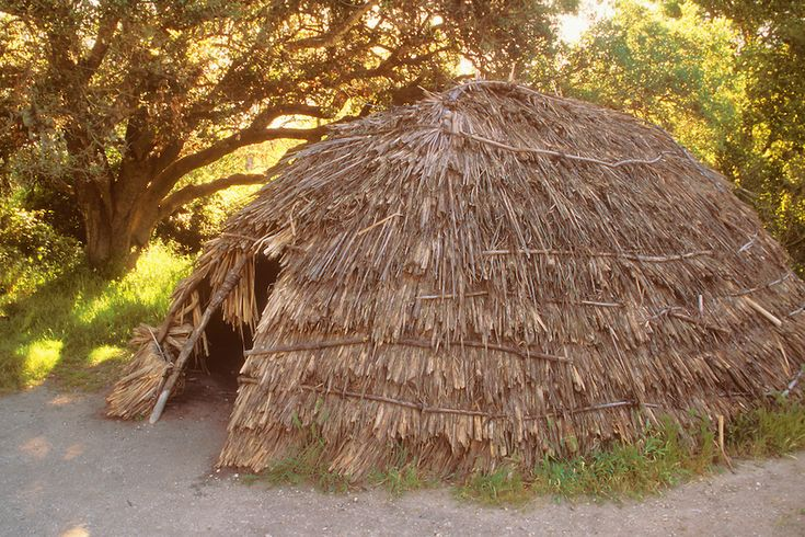 Chumash Indian tule hut, La Purisima Mission State Historic Park, Lompoc,California