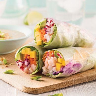 Rouleaux de printemps crevettes et mangue - Recettes - Cuisine et nutrition - Pratico Pratique