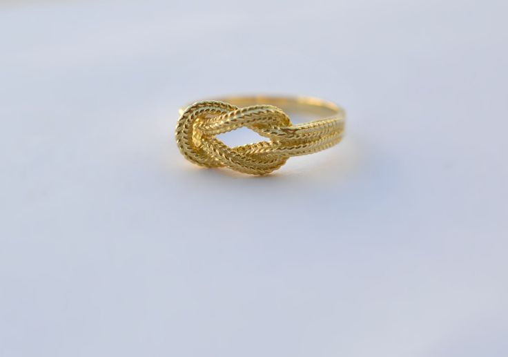Knot Ring Hercules Solid 18k Yellow Gold Eternal Friendship Love Handmade in Greece Valentine Mythology by ViazisJewelry on Etsy