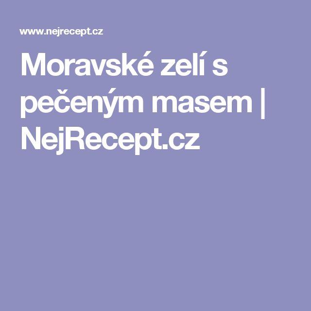 Moravské zelí s pečeným masem | NejRecept.cz
