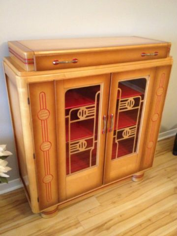 Art Deco Display Cabinet By Knechtel Furniture