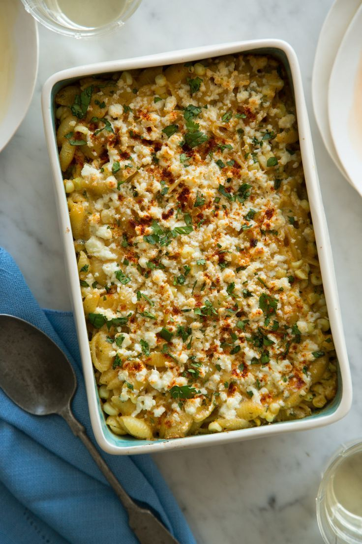 Elote Baked Mac and Cheese