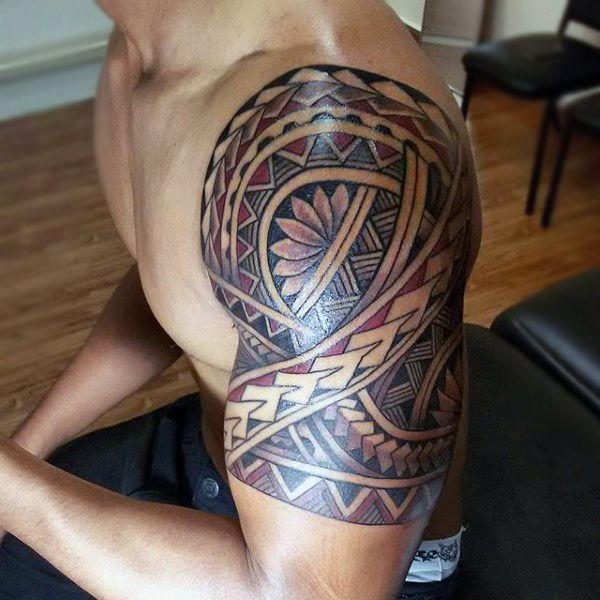 The 25 best mens upper arm tattoo ideas on pinterest for Upper arm half sleeve tattoos