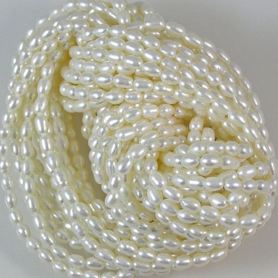 Freshwater Pearl Rice Beads by XOSupplies $8.82