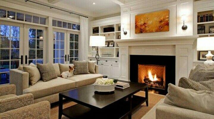 11 Salas con chimeneas modernas