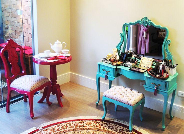 mesa vitoriana de decoração