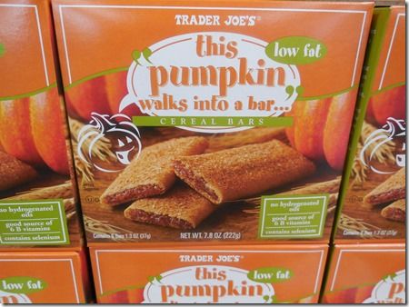 Trader Joes Pumpkin bars... Kid #1 says these taste like Christmas! Now isn't that nice in your lunchbox?