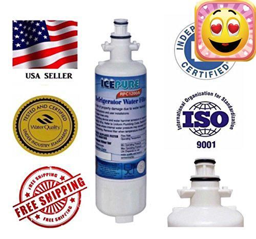 #awesome ICEPURE RFC1200A REFRIGERATOR WATER FILTER REPLACES; LG #LT700P; #ADQ36006101; ADQ36006102 KENMORE 9690; 46-9690 AQUA FRESH WF700 Comparable With The Fol...
