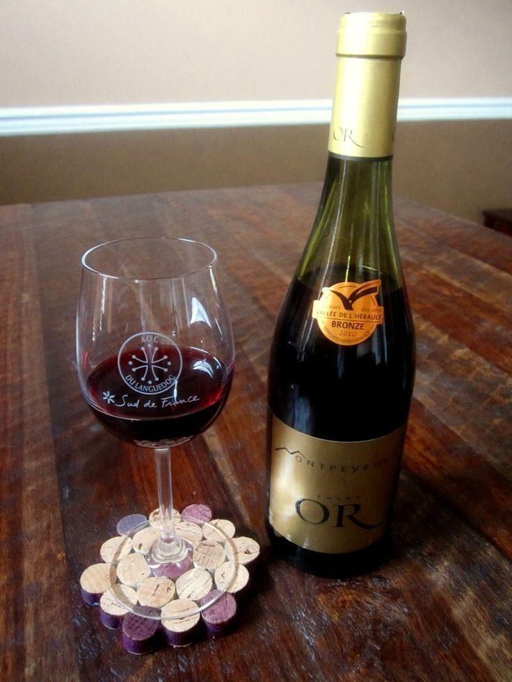 Wine Bottle Cork Crafts   Wine & Cork: {DIY} Wine Cork Coaster