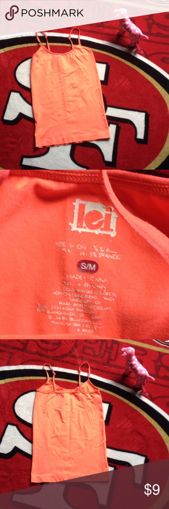🔥 5/$25 - L.e.i Neon Orange Cami 🔥 🔥 5/$25 - L.e.i Neon Orange Cami 🔥   •Open to all reasonable offers ! ✅ •Will NOT accept LOWBALLS ! 🚫 •Please take into consideration the 20% fee posh takes ! 👍 •NO TRADES, Ask & YOU'LL BE BLOCKED IMMEDIATELY ! 🚫 •Any & all questions are welcomed ! ✅ •Pet Friendly Home 🐶😺 but Smoke FREE !  •NO HOLDS ➡️ Items are cross-listed ! •NO FREE SHIPPING ! 🚫 l.e.i Tops Camisoles