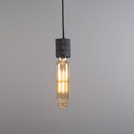 Lámpara colgante TOWER negra con bombilla LED regulable #iluminacion #LED #deco