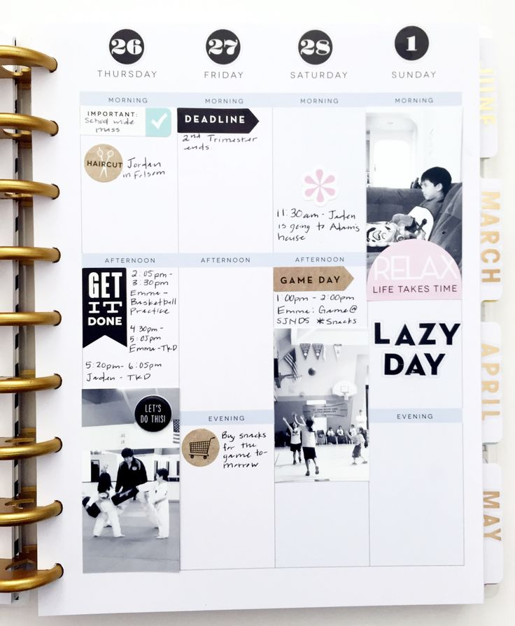 minimalist spread in Create 365™ The Happy Planner™ by mambi Design Team member Theresa Doan | me & my BIG ideas