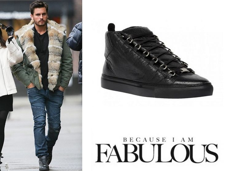 Shop Celebrity Closet: Scott Disick Balenciaga Arena High Sneakers - http://www.becauseiamfabulous.com/2014/01/scott-disick-balenciaga-arena-high-sneakers/