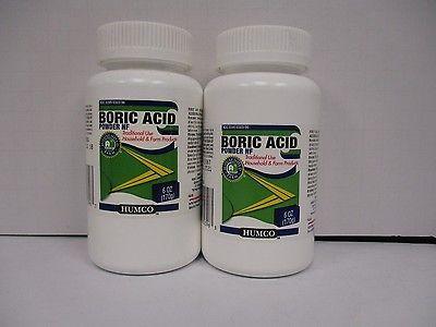 2 Humco Boric Acid Powder NF HOUSEHOLD & FARM PRODUCTS 2X 6oz EXP 7/18+ DE 0319