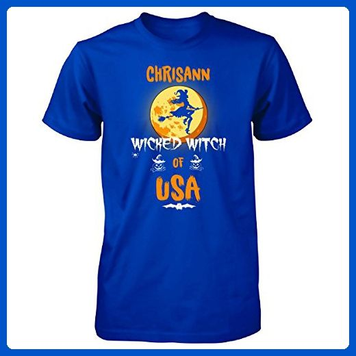 Chrisann Wicked Witch Of Usa. Halloween Gift - Unisex Tshirt Royal 2XL - Holiday and seasonal shirts (*Amazon Partner-Link)