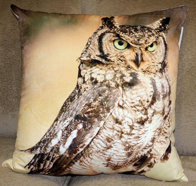 Staring owl cushion #Cushion | #NeutralCushion | #Owl | #Sale | #PhilBee | #Decor | #Melbourne | #Interiors | #VelvetCushion | #InteriorDecorator | #Cushions | #OwlCushion