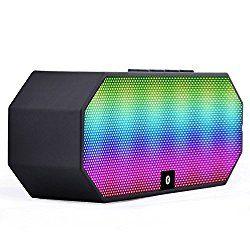 Ecandy Bluetooth 3.0スピーカー ポータブルワイヤレススピーカーLEDライト内蔵マイクと充電式バッテリー付きハンズフリー通話用 (ブラック) おすすめ度*1 Bluetooth対応コンパクトワイヤレススピーカー。 音響に合わせてLEDで前面が光るのが特徴。 このLEDは音量に合わせて光るので、動画や音楽を再生していてもミュートでは光らない。 ちなみに光り方はスペクトラムではなく、単純に音量の上下だけ影響する。 【1】外観・インターフェース・付属品 付属品は英語マニュアルとUSB充電とAUX入力を兼ねたケーブルが1本付属する。 本体上面に操作パネルがあり、Play/Pauseや…