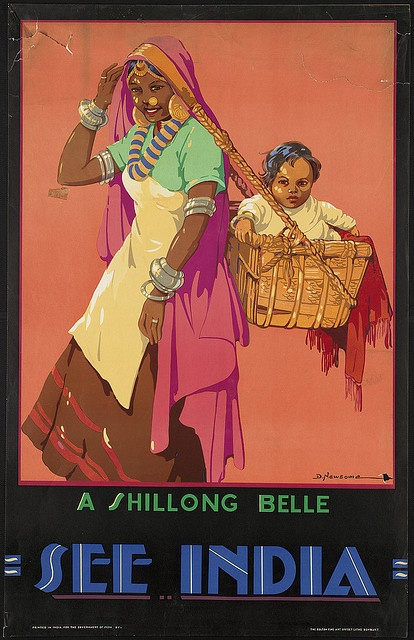 Title: See India. A Shillong Belle    Created/Published: India : Printed in India for the government of India    Date issued: 1910-1959 (approximate)