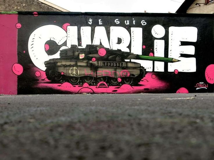 """Je Suis Charlie"" Something new from Gris One DMV in Paris, France #streetart #jesuischarlie #dmv"