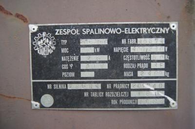 agregat prądotwórczy wojskowy 16kv PAD