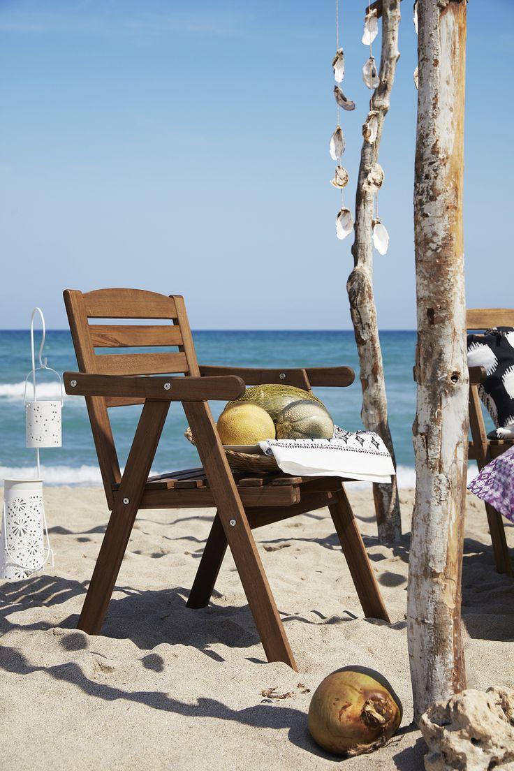 Eat Outdoors In Classic Style On A FALHOLMEN Garden Chair. #IKEA #FALHOLMEN  #