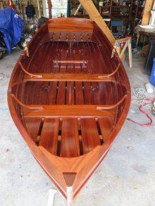 Custom Row Boat, Mahogany Lapstrake Dinghy Dory