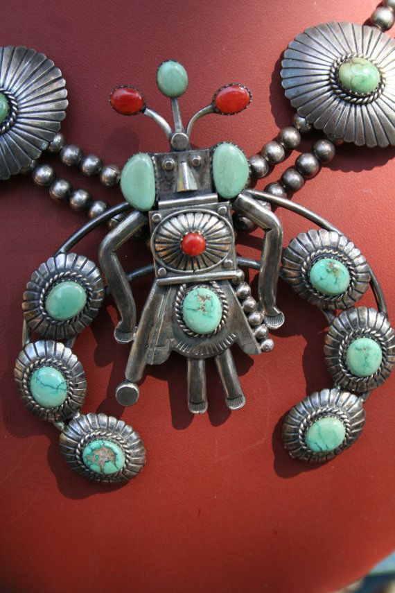 OLD Hopi Kachina Sterling Silver Squash Blossom by SilverInSpades