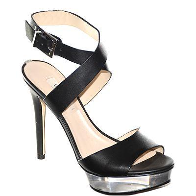 #Sandalo incrociato in caviglia con plateau e tacco alto in pelle nera di #Guess  http://www.tentazioneshop.it/guess/sandalo-kiwa-nero-guess.html