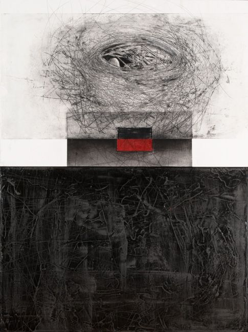 iamjapanese:    Tania Gleave(Canadian)  To dwell in a time for peace 2010   intaglio etching, graphite and oil