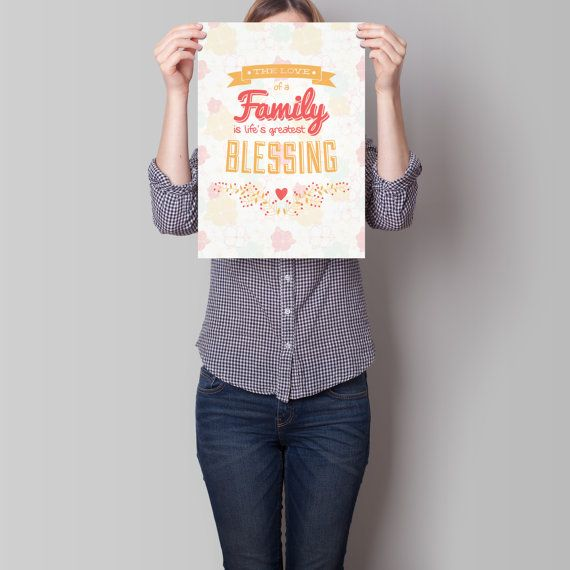 Art Print Family Love Quote Wall Art Decor by TheRizzofiedStudio  CLICK now to buy from only $8.00. Or visit www.TheRizzofiedStudio.etsy.com to view all products #artprint #etsy #typography