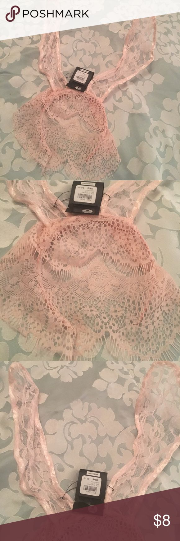 Pink lace rabbit ears w/ veil headband Never worn rabbit ears headband. Pretty pink with veil detail. Perfect for any Ariana Grande lover or to spruce up any dressing up of any sort 🤗 Charlotte Russe Accessories Hair Accessories