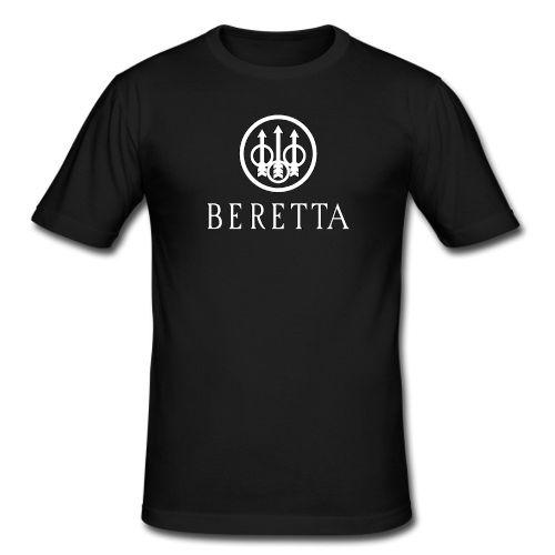 Beretta Gun - Sniper Riffle Firearms Logo Men Black T shirt