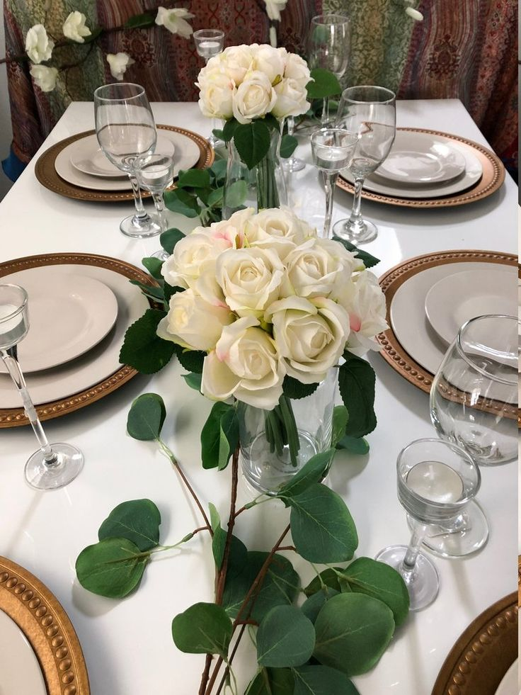 White ivory rose flower bouquet 11 heads, perfect for