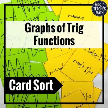 GRAPHS TRIG FUNCTIONS OF