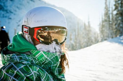 Snowboarding.