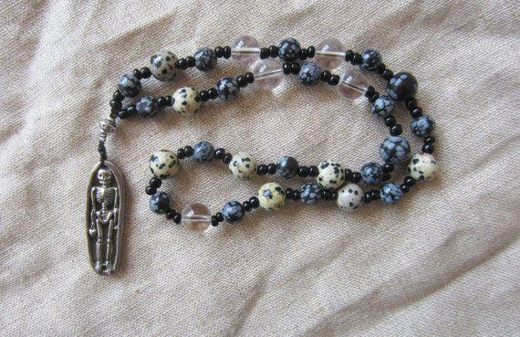 Hel et les Morts Perles de prière / méditation - Pagan Wicca Witchcraft Norse Death Work