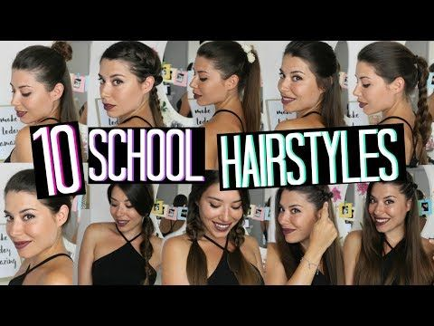 10 BACK TO SCHOOL HAIRSTYLES | Adriana Spink - YouTube