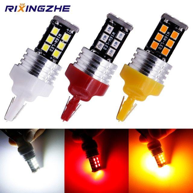 Rxz 2pcs T20 W21 5w 7443 7440 W21w 2835 15smd 7444na Led For Turn Signal Lights Tail Lights Brake Lights Canbus Dc 12v No Error Rev Tail Light Led Signal Light